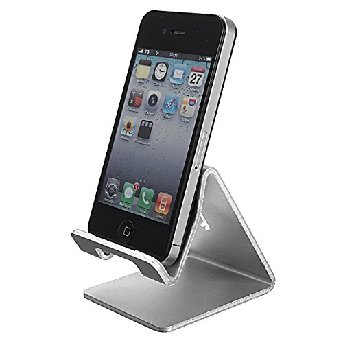ELEGIANT Universell Aluminium Alloy Stand Halterung Handy Telephone Staender Halter Stand Pr Fuer iPhone 6 5S 5 4GS Galaxy S4 S5 iPad iPod Note 3 E-Book Reader Tablet PC (Stand Handy)