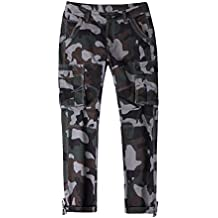 Hombre Pantalón Militar Cargo Pantalones Camuflaje Larga Deportes Pantalones XXX-Large Verde Gris