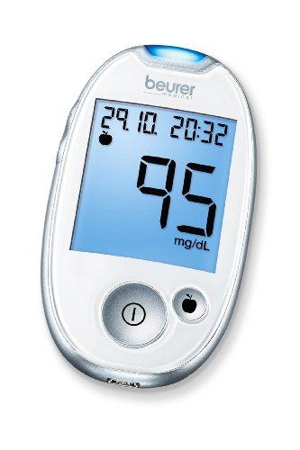 Beurer GL 44 mg/dl Blutzuckermessgerät, Weiß