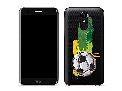 etuo LG K10 (2017) - Hülle Crystal Design - Fußball - Handyhülle Schutzhülle Etui Case Cover Tasche für Handy
