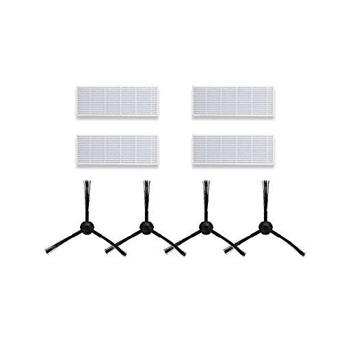 Equipaje de reemplazo para ILIFE A6 A4 A4s Robot Aspirador Cepillo lateral de filtro