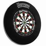 Harrows 4-Teiliger Schutzrahmen für Dartscheiben, schwarz, 70cm