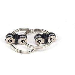 Elsatsang anillo de mano Spinner juguete Fidget para niños y adultos reducir la ansiedad y el aburrimiento (negro)