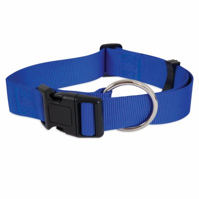 Petmate - Nylon Dog Collar, Blue, 3/8 x 8-14 In.