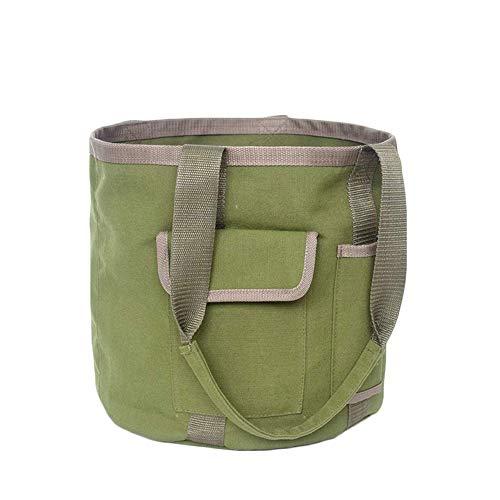 Alaojie Waterproof Canvas Garden Tool Bag Folding Organizer Multi-Pockets Gardening Tool Pouch