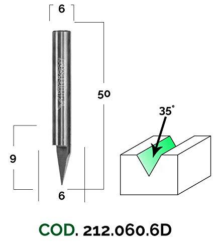 Fresas Láser Point - D=6 / S=6 / A=35 -