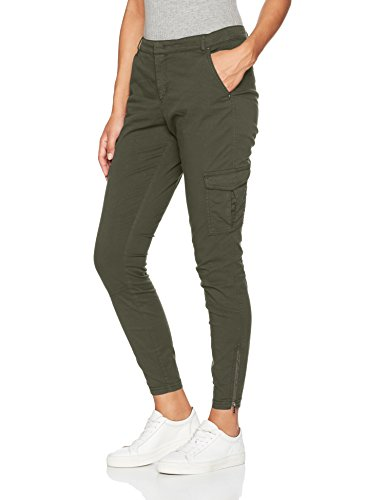 BOSS Orange Damen Hose Socargi-D 10199648 01, Grün (khaki), W36