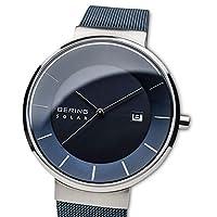 BERING Reloj Analógico para Hombre de Energía Solar con Correa en Acero Inoxidable 14639-307 de BERING