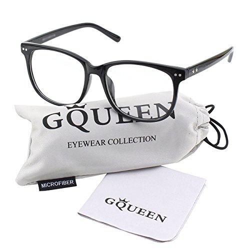 fake brille GQUEEN Großer Übergroßer Rahmen Hornbrille Klare Gläser Brille PE1