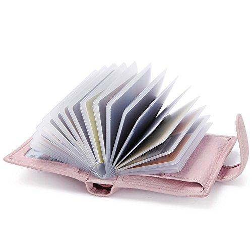 Portemonnaie Frauen klein 18 Kartenfächer-RFID Schutz-Kartenhalter-Münzbörse,TEEMZONE(Rosa) (Damen Rosa Kleine Portemonnaie)