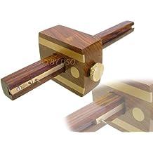 Toolzone WW032 - Gramil de doble punta con incrustaciones de latón (215 mm, madera noble)