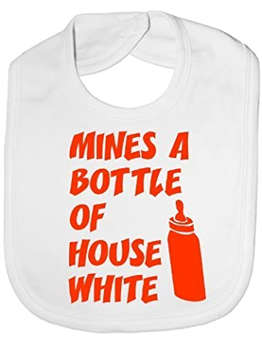 Mine's A Bottle House Wine - Funny Baby/Toddler/Newborn Bib - Baby Gift white by NA