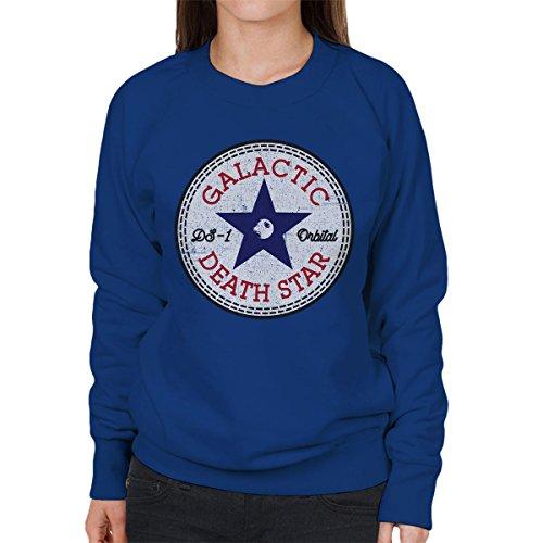 Star Wars Rogue One Death Star Converse Logo Women's Sweatshirt Royal Blue