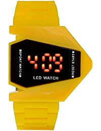 Briota Mens Digital Watch Yello Rubber Strap Party Wear Watches For Boys