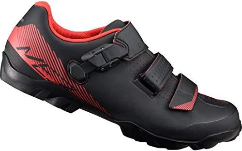 Shimano ME300 SPD - Scarpe da ciclismo MTB da uomo, taglia 45, colore: Nero/Rosso