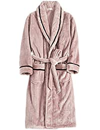 c3aac70ef1 MERRYHE Albornoz De Franela para Mujer Batas De Baño con Albornoz Comforts  Albornoz De Kimono Rosa De Lujo Camisón De Noche…