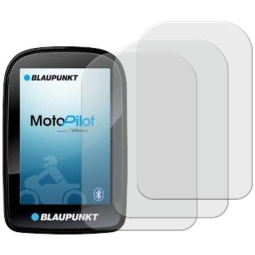 3 x Displayschutzfolie matt/entspiegelnd für Blaupunkt Motopilot