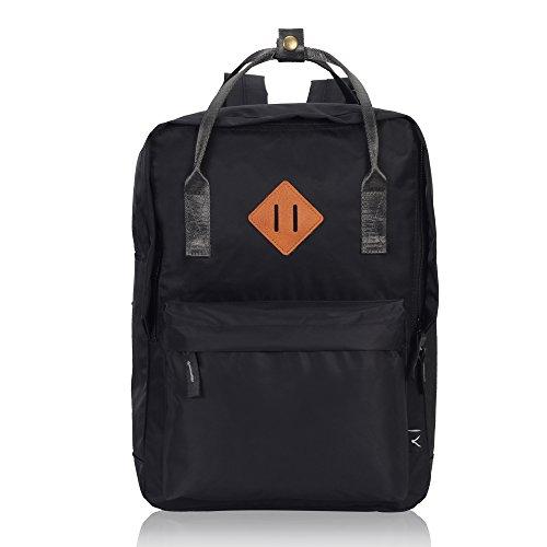 Imagen de veevan unisex grandes bolsas de escuela   para laptop para niñas adolescentes chicas negro