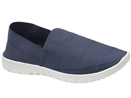 Memory Foam Per Signora Senza Spalline Sneakers In Lino Con Espadrillas Sneakers Sportive Scarpe Da Ginnastica Taglia 3-8 Marine