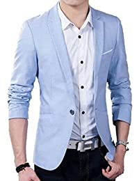One Click Men's Blazer for Party Wear, Sky Blue