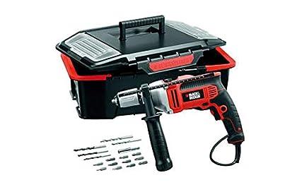 Black+Decker M273766 - Taladro percutor kr705ast 750w + caja herramientas
