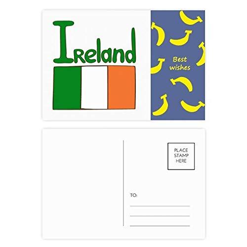 Postkarten-Set mit irischen Nationalflaggen, Grün, 20 Stück -