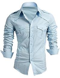 Élégant Designer hommes occasionnels mince chemises habillées belle Slim