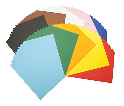 farbkarton Tonpapierblock A4 Farbig Sortiert 100 Blatt