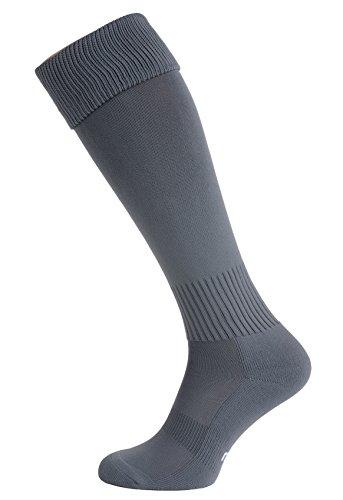 Nessi Fußballstutzen Modell G Fußball Strümpfe Stutzen 100% Atmungsaktiv viele Farben - Grau, 44-46