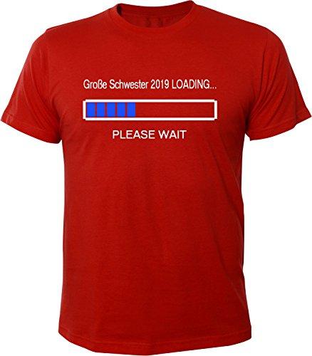 Mister Merchandise Herren Men T-Shirt Große Schwester 2019 Loading Tee Shirt bedruckt Rot