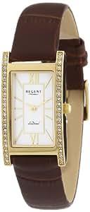 Regent Damen-Armbanduhr LaDonna! Analog Quarz Leder 12100544