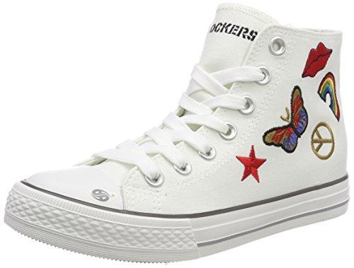 Dockers by Gerli Unisex-Kinder 40CI603-710505 Sneaker, Weiß (Weiss/Multi 505), 40 EU