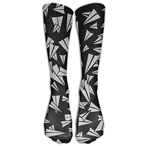 Airplane Tie Dye Stretch Outfit POP Men Women Knee Compression Socks Knee Socks for Running ()