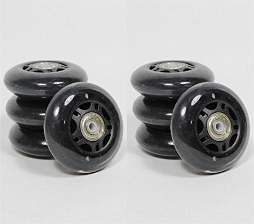 70 mm SPEED INLINER ROLLEN 8 Stück ABEC 5 Lager Inline Skates Anthrazit 8700+