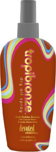 Devoted Creations Bronzo Tropic abbronzatura oro scuro con acqua di cocco e olio di jojoba Dry Spray 240ml