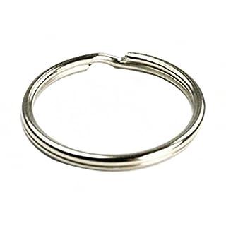100Stück: 25mm Split Schlüsselanhänger Ring Connector Schlüsselbund/vernickelt