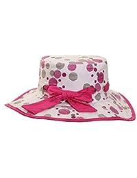 Fille Large bord chapeau de soleil coton–2couleurs et 2tailles–Fast Post