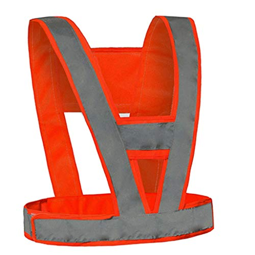 Reflektierende Weste Reflektierende Weste Hochfestes reflektierendes Tuch, das beständig gegen das Einfrieren ist Radfahrensicherheitsweste Straßenbau Schutzweste Sicherheitsweste ( Color : Orange )