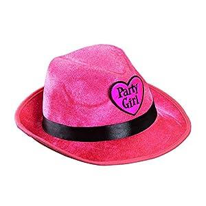 WIDMANN 1144F?Fedora Sombrero Party Girl de Terciopelo, One Size