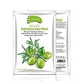AHUO Maschera Peeling Piedi 5 Paia, Calzini esfolianti all'olio d'oliva, Stivaletti Peeling Callus, rimuovi Pelle Morta esfoliante Naturale