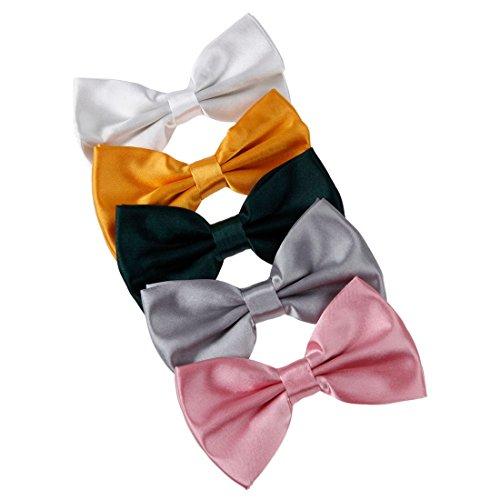 dbf2003-bowtie-moda-bianco-oro-verde-argento-colore-rosa-solido-poli-pre-legato-bow-tie-gift-box-set