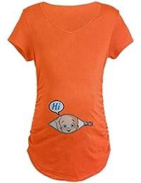 fde98ec10a158a Q.KIM T-Shirt de Maternité Femme Maternité Grossesse Amusant Humour  Imprimé-Hi