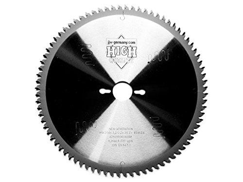 HM Sägeblatt 254 x 30 mit 80 HM Zähnen WZ negativ für Kapp & Gehrungssägen, Industriequalität nach DIN EN 847-1