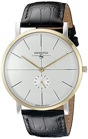 Swisstek Men's SK21321U Retro Aces Analog Display Swiss Quartz Black Watch