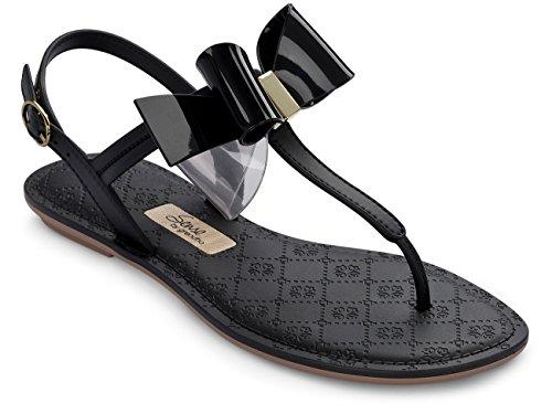 Grendha Sense Bow Sandal, Sandales  Bout ouvert femme Noir (noir)