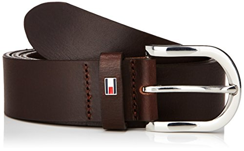 Tommy Hilfiger NEW DANNY BELT - cinturón Mujer, Dark Brown, 90 cm