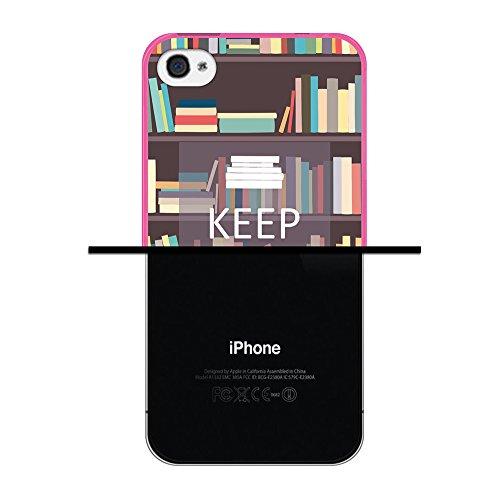 iPhone 4 iPhone 4S Hülle, WoowCase Handyhülle Silikon für [ iPhone 4 iPhone 4S ] Donuts Handytasche Handy Cover Case Schutzhülle Flexible TPU - Rosa Housse Gel iPhone 4 iPhone 4S Rosa D0292