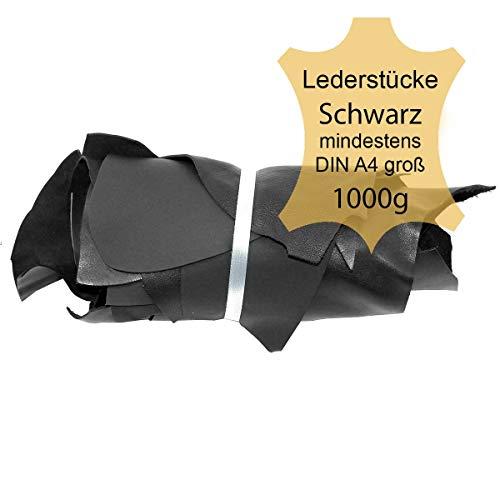 Langlauf Schuhbedarf ® Lederstücke mittel 1kg schwarz - alle Stücke Mind. DIN A4