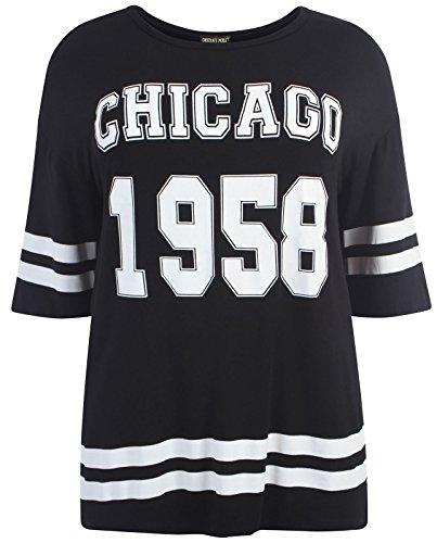 d9d0c3ad0046 Chocolate Pickle ®Neue Damen Übergrößen sackartige Baseball Varsity T-Shirt  Oberteile