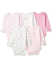 Mothercare Baby Girl 5 Pack Long Sleeve Mummy & Daddy Bodysuits